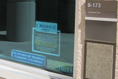 Obama Sticker in Window