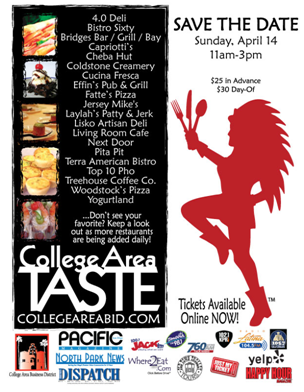 TASTE OF THE COLLEGE AREA APRIL 14