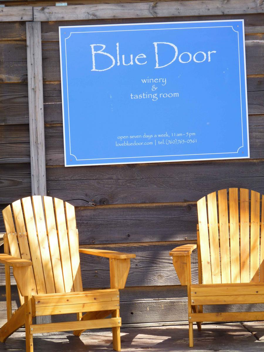 Blue Door Sign Sm