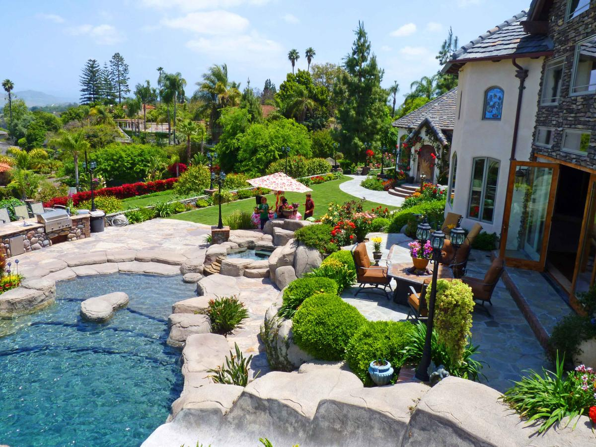 English country garden east county magazine for Pool garden house