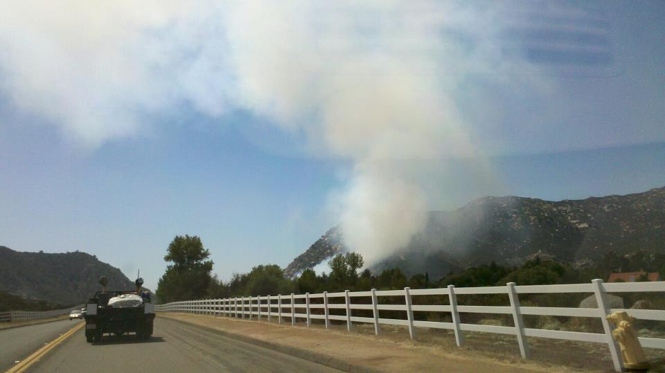 FIRE IN ALPINE/HARBISON CANYON AREA