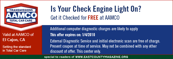 aamco - is your chck engine light on?