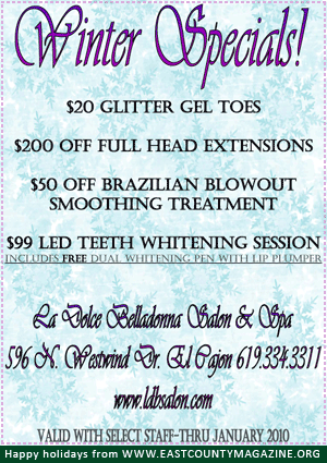 winter specials - la dolce belladonna salon & spa