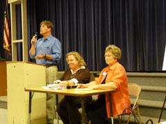 GMIA spokesman Mark Schuppert, with Helix Water Board Directors Kathleen Coates Hedberg and De Ana R. Verbeke