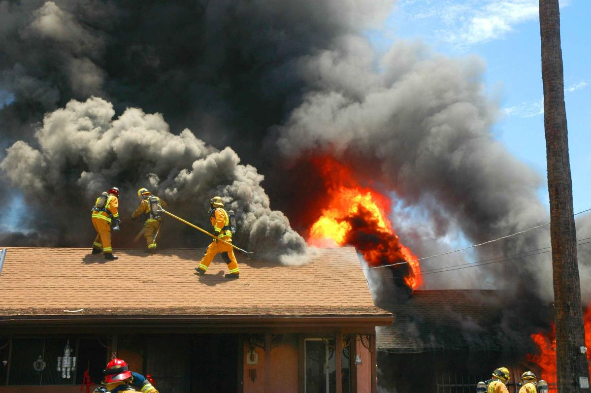 TWO-ALARM FIRE DESTROYS HOME ON GROSSMONT AVE.; OCCUPANTS NARROWLY ESCAPE WITH HELP FROM CITY
