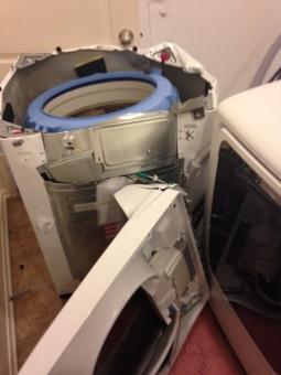 exploding washing machine