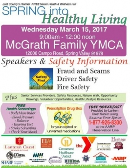 SPRING INTO HEALTHY LIVING MARCH 15 AT THE YMCA   East