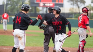 SDSU BASEBALL EVENS SERIES AT FRESNO STATE WITH 10-6 WIN