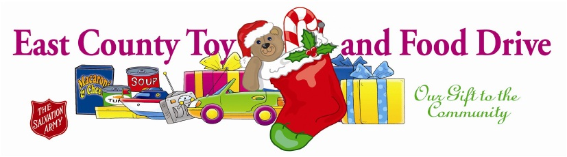 Toys Easter Magazine : East county toy and food drive magazine